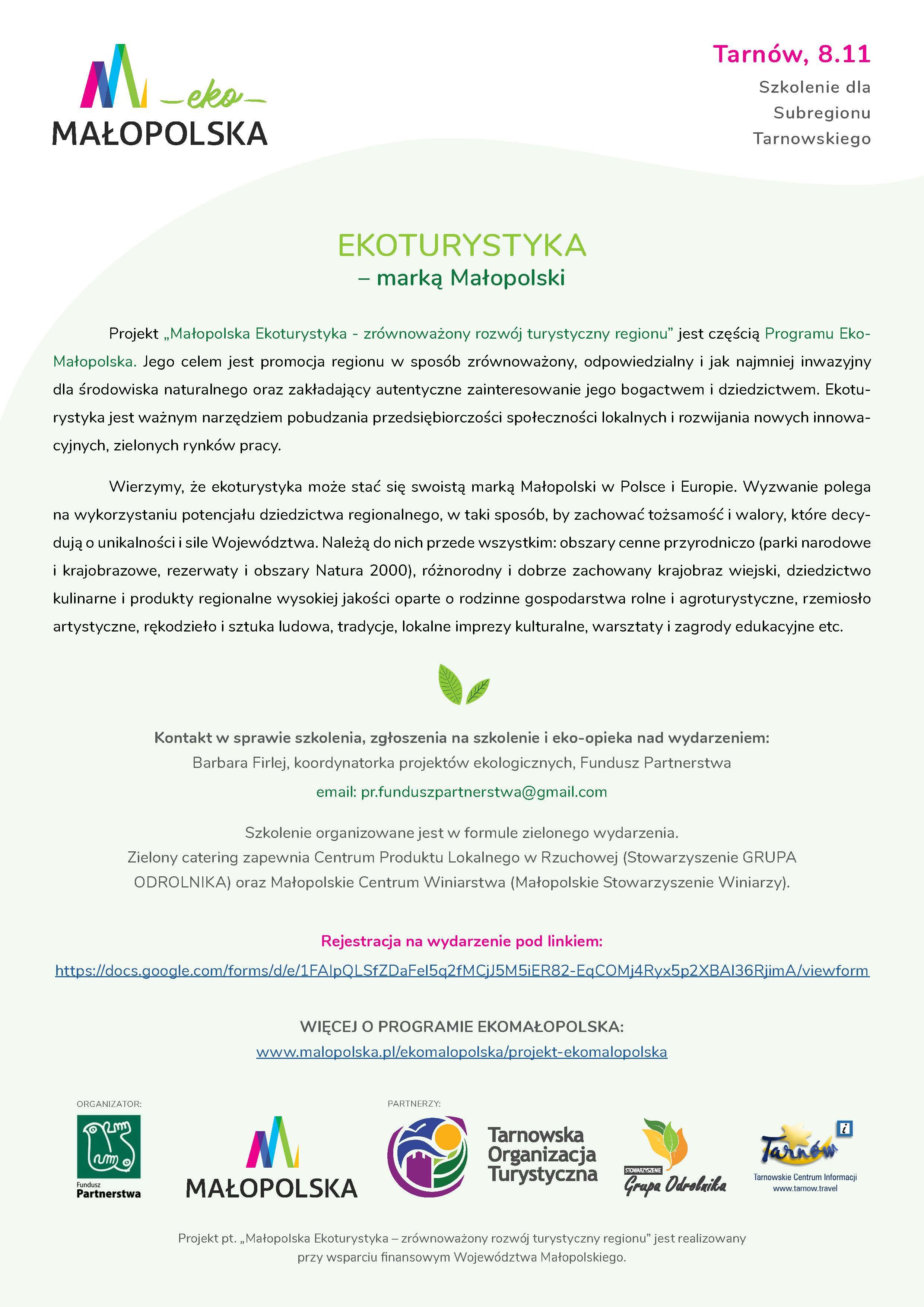 Szkolenie Ekoturystyczne w Tarnowie